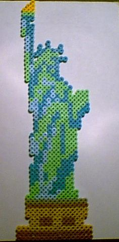 Statue of Liberty perler beads.