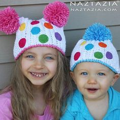 Add pompoms and polka dots for a colorful birthday hat from @naztazia.  Click on the link in our profile or visit http://naztazia.com/patterns/crochet/accessories/hats/crochet-birthday-party-hat.html for the free crochet pattern and video tutorial.  #crochet #crochetersofinstagram #freepattern #redheartyarns #joycreators