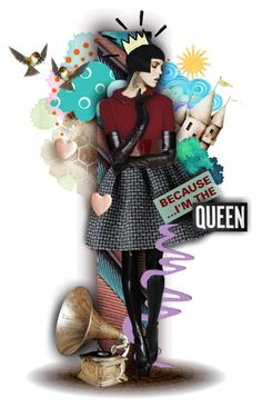 """""""Because I'm the Queen"""" by alicja2204 ❤ liked on Polyvore featuring art"""