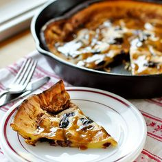 Roasted Cherry Dutch Baby with Brown Sugar-Cinnamon Sauce >> YUM!