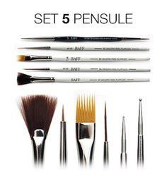 Set 5 Pensule Nail Art Nail Art, Nails, Beauty, Finger Nails, Ongles, Nail Arts, Beauty Illustration, Nail Art Designs, Nail