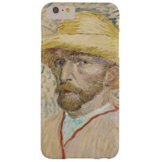 Self-Portrait with Straw Hat by Vincent Van Gogh iPhone 6 Plus Case