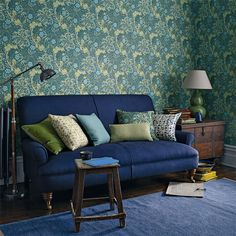 Style Library - The Premier Destination for Stylish and Quality British Design | Products | Morris Seaweed Wallpaper (DM3W214714) | Archive III Wallpapers | By Morris & Co.