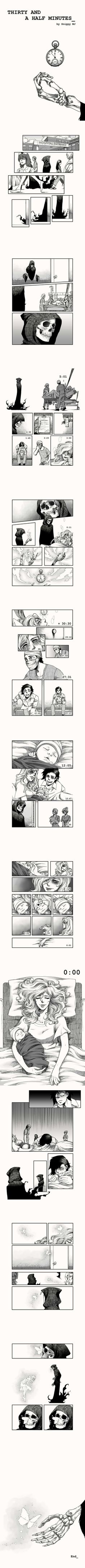 Thirty And A Half Minutes (by Snippy MJ) is part of Coffee drawings Sketches Pens - More memes, funny videos and pics on Cute Stories, Short Stories, Anime Stories, Cassandra Calin, Rage Comic, Mini Comic, Comics Story, Short Comics, Faith In Humanity