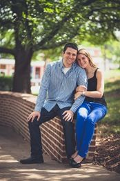 nostalgic engagement photos at the University of Maryland