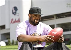 """Michael Oher says he doesn't hold grudges against anyone for the misfortune he encountered as a child. """"I don't dwell on anything,"""" Oher says. """"I'm not going to feel sorry for myself because I didn't have a place to stay a lot of time. It is what it is. We've got to go through some things in life. Take it and run with it."""" :)"""