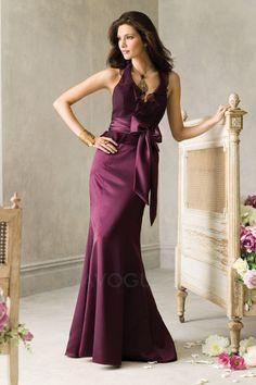 #Robe #Demoiselle #D'honneur# Sirène Satin Informel & Décontracté Simple Festonné Dos Nu Mavogue.fr