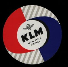Airline luggage label KLM rare #407