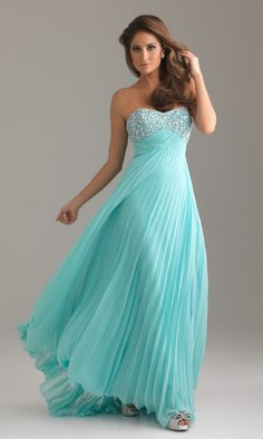 Strapless Pleated Prom Dress by Night Moves