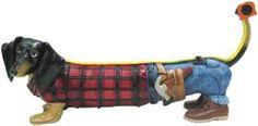 Hot Diggity HANDYMAN Dachshund Dog Figurine New in Box Construction Worker