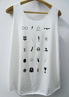 Accessories Harry Potter Movie Tank Top Vest WomenTank by kumajung, $14.99