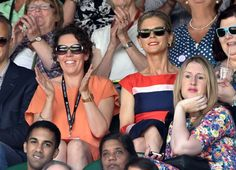 It starts off quite happy - LONDON, ENGLAND - JULY 01: Olivia Colman and Emilia Fox attend the Angelique Kerber v Maria Sharapova match on centre court during day eight of the Wimbledon Championships at Wimbledon on July 1, 2014 in London, England. (Photo by Karwai Tang/WireImage)