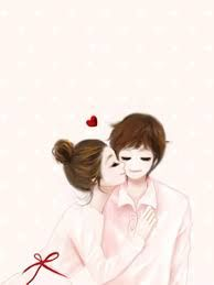 Kisses for you Love Cartoon Couple, Cute Couple Art, Cute Love Cartoons, Anime Love Couple, Cute Anime Couples, Korean Illustration, Couple Illustration, Cute Images, Cute Pictures