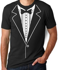 Tuxedo T Shirt Funny Gifts for Men Funny T by CleverFoxApparel
