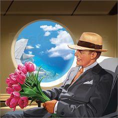 Dank der Luftfahrt ist es uns möglich sehr schnell von einem Ort zu einem weit entfernten um die halbe Welt zu reisen.  Als Wandbilder ermuntert uns die Luftfahrt, öfters Familie und Freunden  zu besuchen – egal wie weit der Weg auch sein mag.