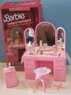 Vintage 1990 Barbie Sweet Roses Furniture Roll Top Desk