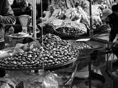 Fire roasted chestnuts #rome # travel #winter #chestnuts