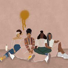 Black Love Art, Black Girl Art, Black Girl Magic, Black Girls, Black Art Painting, Black Artwork, Black Cartoon, Cartoon Art, Girl Cartoon
