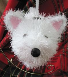 West Highland White Terrier WESTIE Holiday Ornament, via Etsy.