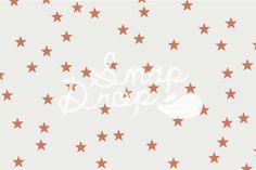 Orange Random Stars - Photography Backdrop - Newborn Backdrop - Photo Booth - Photobooth Prop - Instant Download
