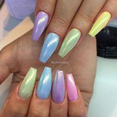 Pastell med mermaid effekt