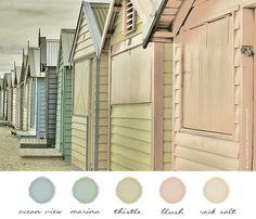 Color Inspiration / beach house color palette