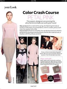 color crash course petal pink - Google Search