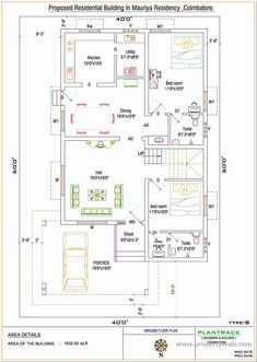 2bhk House Plan, Model House Plan, House Layout Plans, Duplex House Plans, Luxury House Plans, Best House Plans, Small House Plans, House Layouts, North Facing House