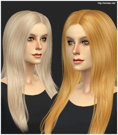 Simista's Retexture / Edit Cazy`s Over The Light Hairstyle Retexture Long hairstyles for Females ~ Sims 4 Hairs