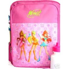 Winx Club Large Pink Backpack - Winx Club Fairy Magic Large School Book Bag, Great Idea for gift.
