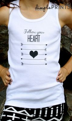Back to School Tween Follow Your Heart T-Shirt made with Cricut Explore -- Dimple Prints. #DesignSpaceStar Round 2