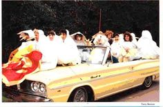 1966 Dodge Coronet 440 Convertible in yellow....part of the 1987 Homecoming Parade at Georgia Southern University in Statesboro
