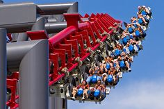 X2 at Six Flags Magic Mountain in Valencia, California, a 4D coaster featuring seats that can rotate forward or backward 360 degrees