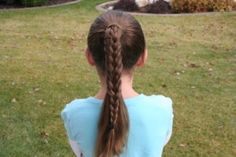 Braided Over Ponytail Young Girls Hairstyles, Cgh Hairstyles, Cute Braided Hairstyles, Braided Ponytail, Summer Hairstyles, Sporty Hairstyles, Girls Hairdos, Hair Ponytail, Hairstyle Ideas