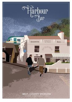The Harbour Bar in Bray, Co. Wicklow in Ireland. Bray Ireland, Bar Harbour, Pub Signs, Cool Bars, Lonely Planet, Travel Posters, Terrace, Irish, Mansions