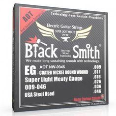 Black Smith : Cordes Electriques Gainées style Elixir Nanoweb en 9 46