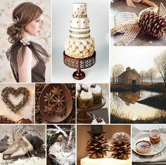 brown winter wedding inspiration