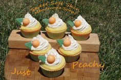 Just Peachy Soapy Cupcakes by SweetSoftSkin on Etsy