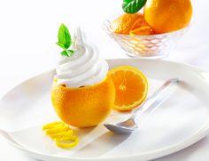 Ice Cream Maker Stuffed Orange Ice Cream | Recipe This