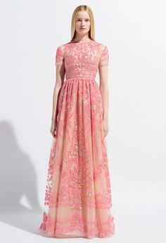 2014 Valentino Wedding Gown in pink so lovely #valentinogown