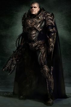 General Zod Man of Steel concept art by Keith Christensen Superman DC Comics