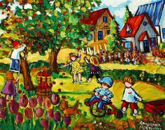 Naive Expressionist Art by Katerina Mertikas: Colorful Whimsical Naive Art