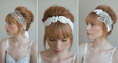 tiara arco headband flores - Pesquisa Google