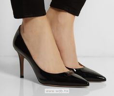 3.5 inch Black  Leather shoes $41.98