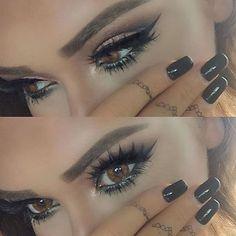 ojos, delineado, pestañas postizas