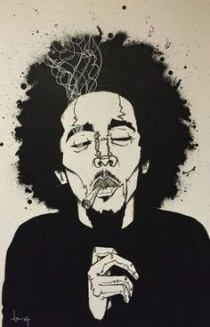 Bob Marley, painting by Arte Dope, Dope Art, Arte Bob Marley, Art Sketches, Art Drawings, Arte Do Hip Hop, Marijuana Art, Cannabis, Stoner Art