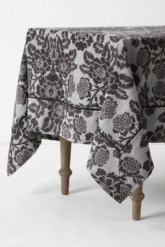 Cute table cloth that would look great with a little red, buff or green! Anthropologie Uk, Uk Fashion, Little Red, Table Linens, Alexander Mcqueen Scarf, Magnolia, Jewelry Gifts, Looks Great, Winter Outfits