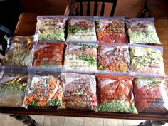 """""""4 hours of prep=30+ days worth of THM freezer/crock pot dinners!! That means NO cooking for me for 30 days!!! Just thaw and throw it in the crock pot!!"""