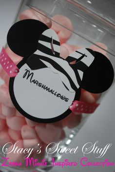 minnie mouse w/ zebra bow