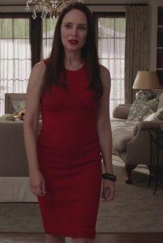 Revenge - Serie TV - look - style - estilo - inspiration - inspiração - moda - fashion - dress - vestido - red - vermelho - elegante - elegant - Victoria Grayson (Madeleine Stowe)